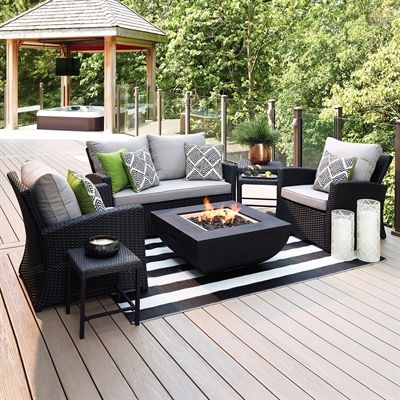 Allen + Roth Outdoor Conversation Set 11325 3 Piedmont 4 Piece Patio  Conversation Set