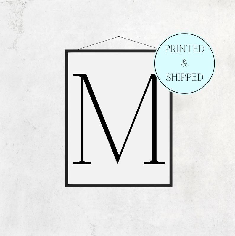M Print Letter M Print Alphabet Print Letter Print Simple   Etsy