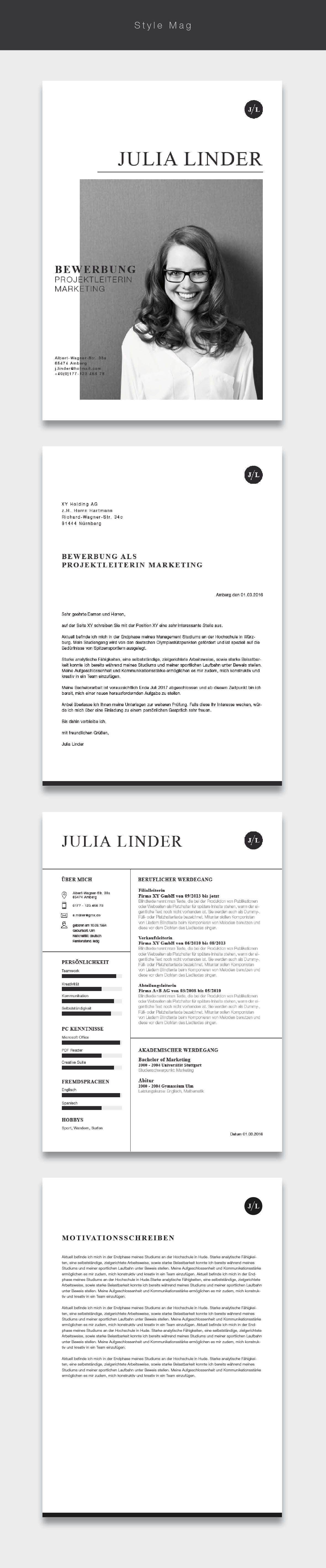 Modern Resume Template 3pk, CV Template + References Letter ...