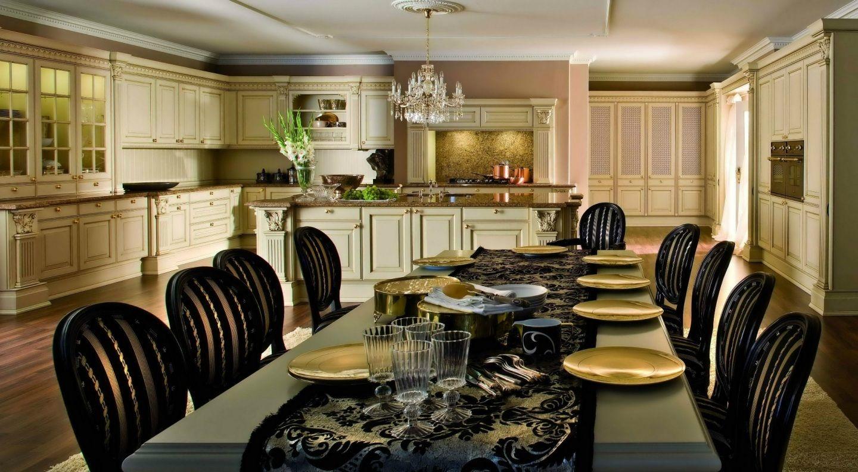 Luxury Golden Kitchen Design Free Desktop Wallpaper