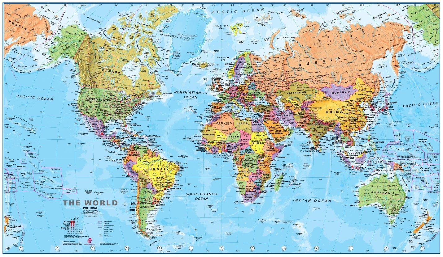 Worldwide Carpets Source Παγκόσμιοι χάρτες, Διακόσμηση