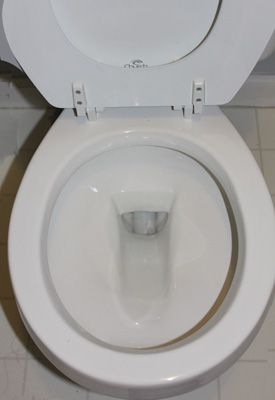 Remove Hard Water Stains From A Toilet Without Chemical Cleaners Clean Toilet Bowl Toilet Cleaning Hard Water Stains