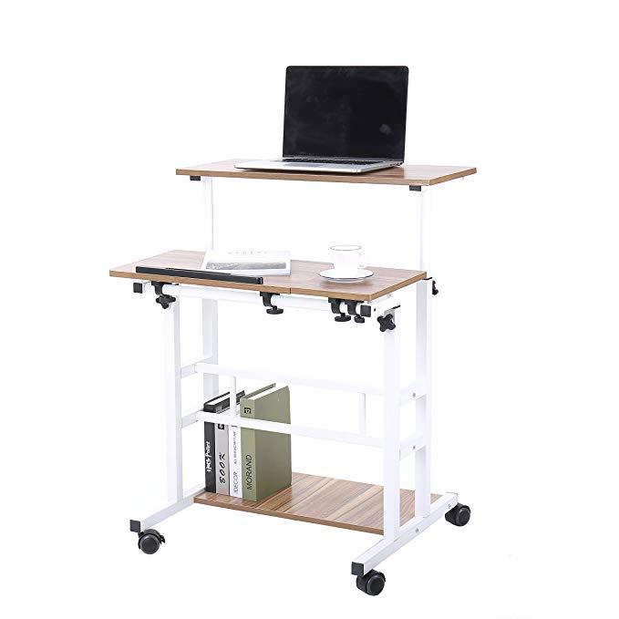 Amazon Com Unicoo Height Adjustable Sit Stand Workstation