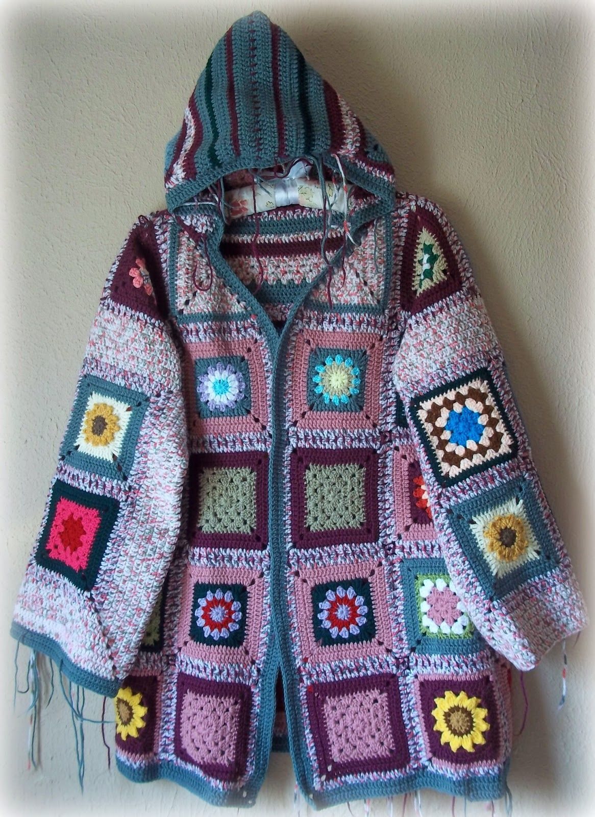 granny square jacket h kelideen h keln stricken und jacke h keln. Black Bedroom Furniture Sets. Home Design Ideas
