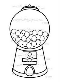 image regarding Printable Gumball Machine titled Bubble Gum Template Felt Pleasurable Gumball gadget, Gumball