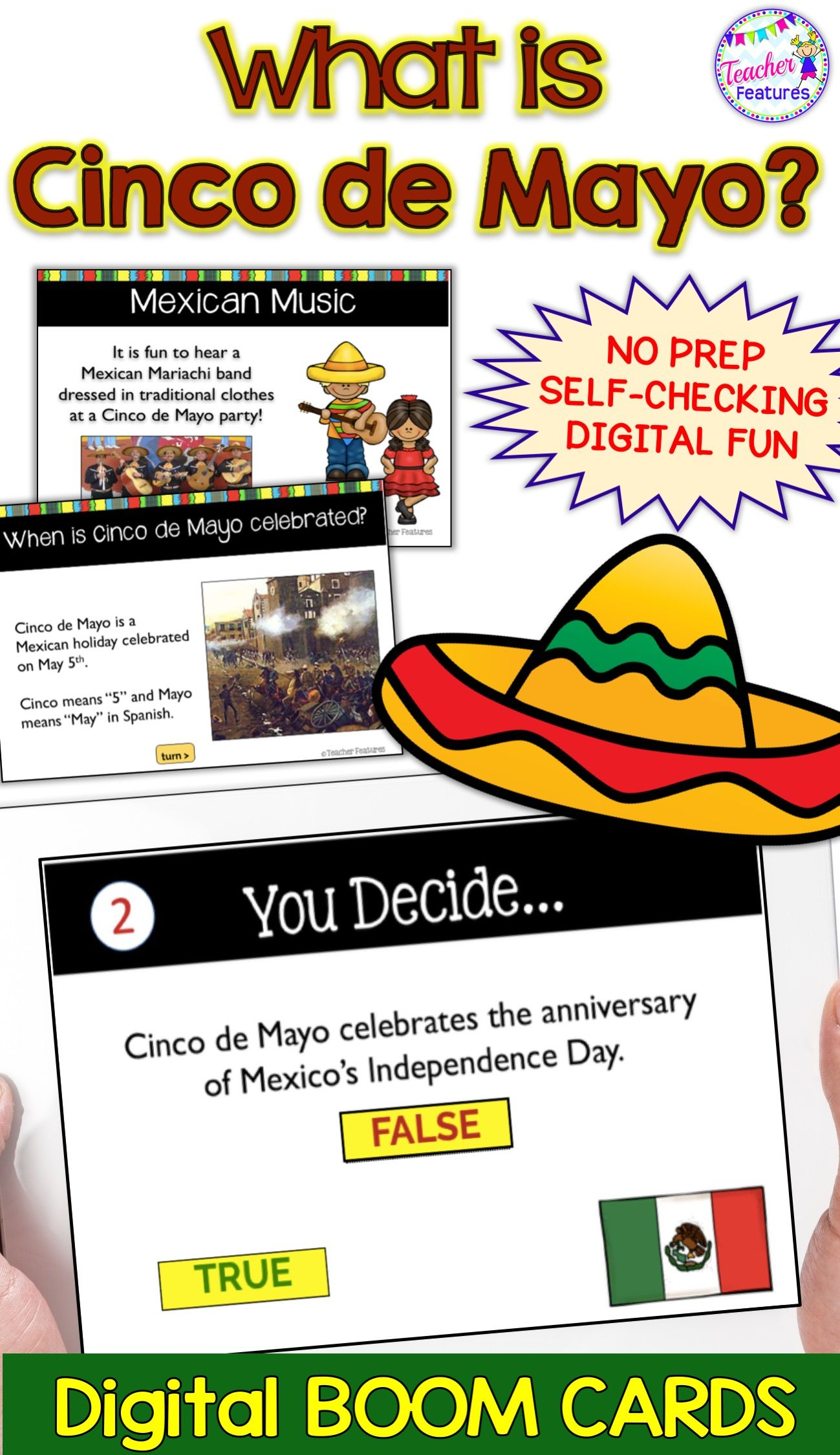 Boom Cards Distance Learning Reading Cinco De Mayo