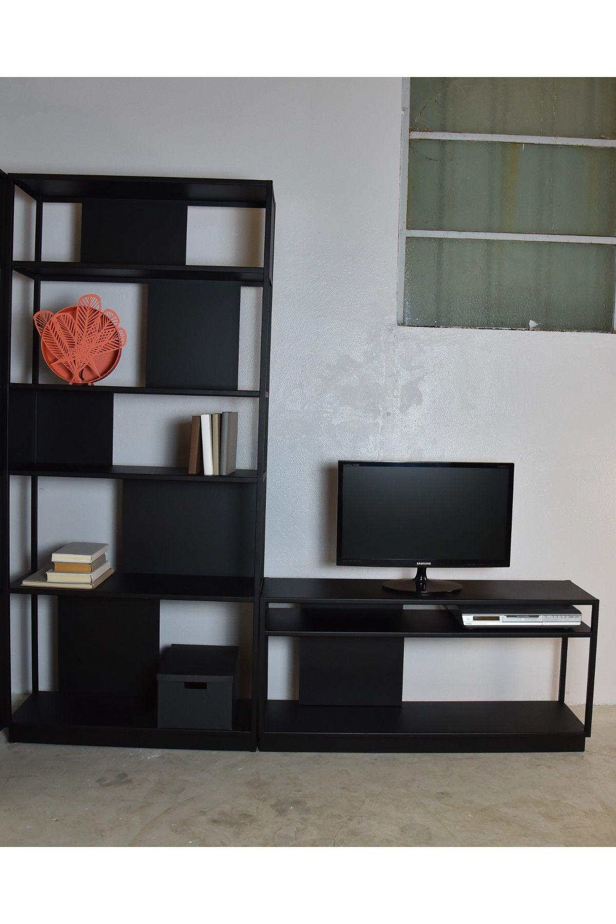 Meuble Tv Metal Design Noir Arlequin Home Decor Decor Shelving Unit