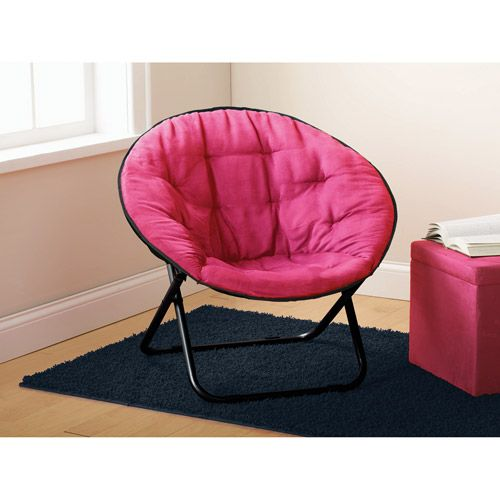 Walmart Mainstays Microsuede Saucer Chair Pink 20