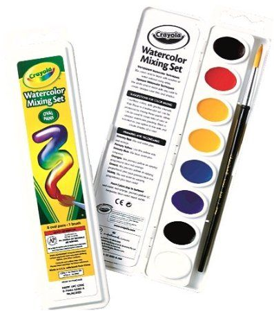 Amazon Com Crayola Watercolor Mixing Set With 8 Semi Moist Oval