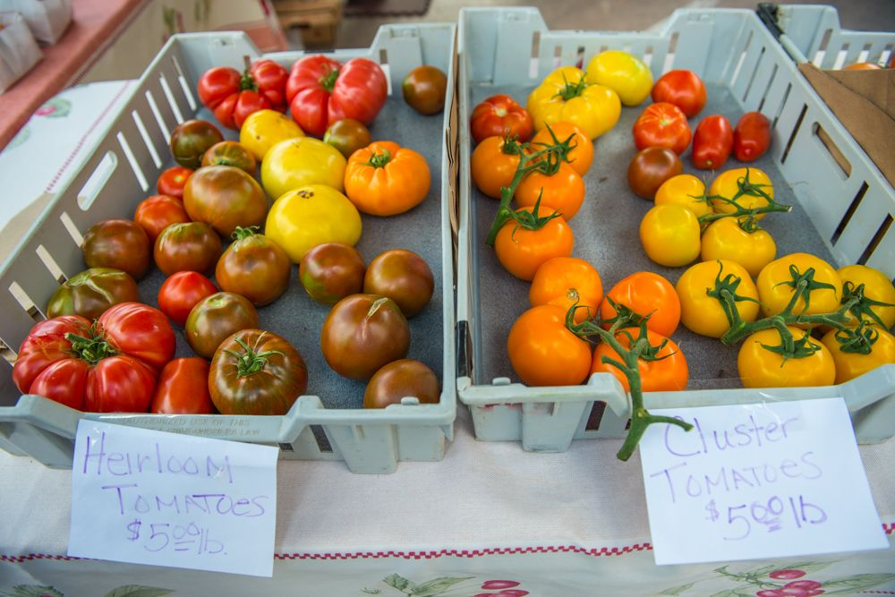 Heirloom Tomatoes at the Downtown Farmer's Market, Main Street, every Thursday June through September.