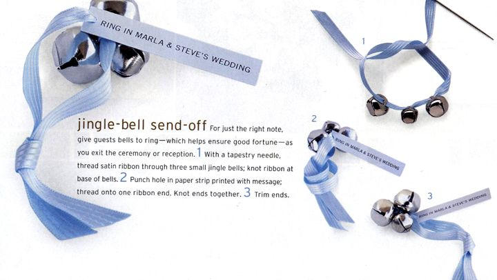 Jingle Bell Send Off Try This Diy Wedding Favor Seen In Martha