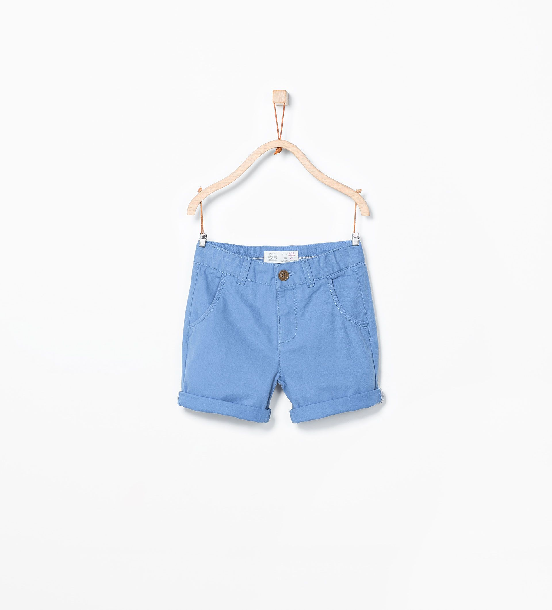 Bermudy Z Kolekcji Basic Bermudas Niemowle Chlopiec Dzieci Wyprzedaz Basic Shorts Zara Zara Boys