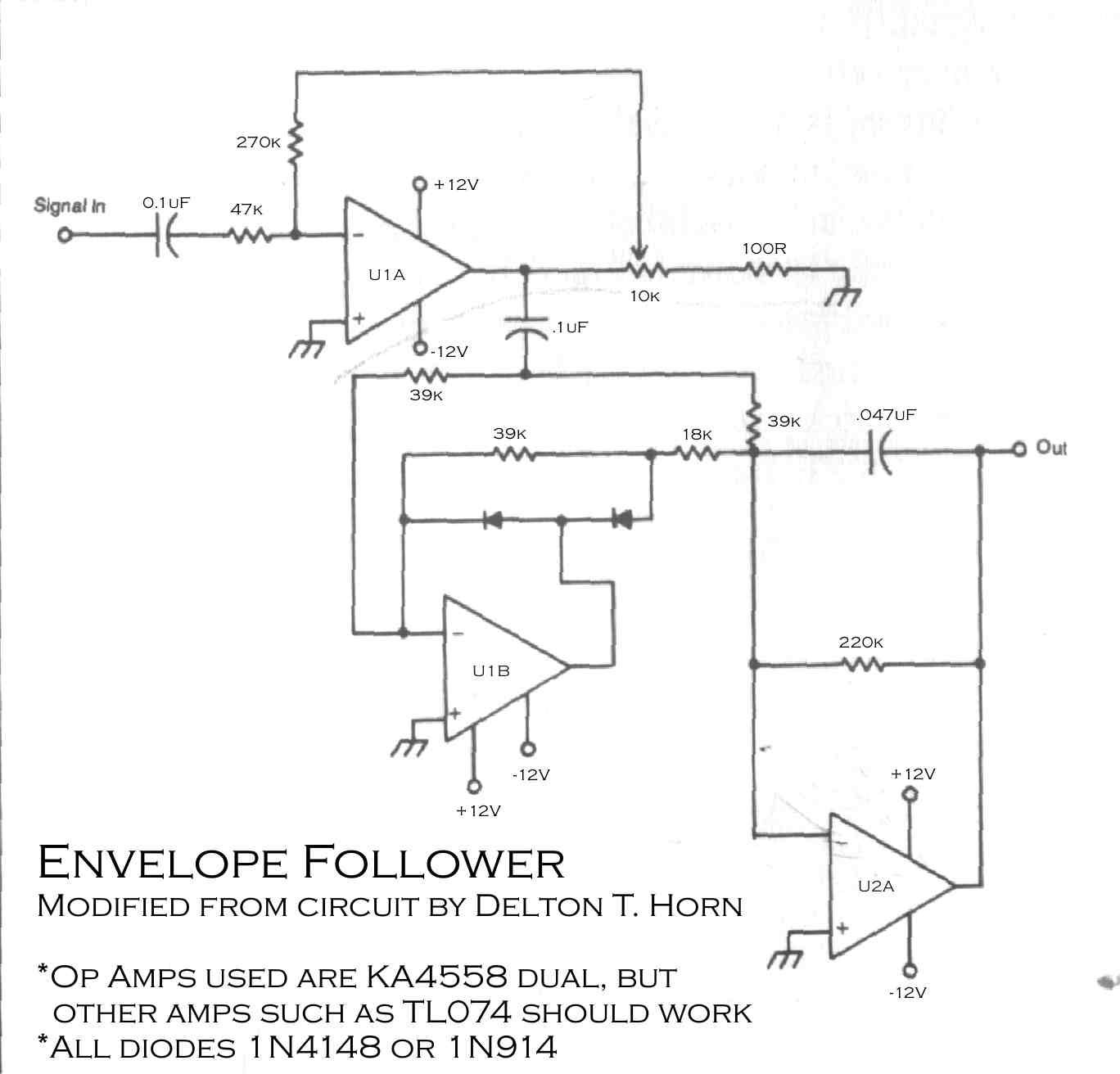 Envelope Follower Schematic Schematics Wiring Diagrams 84 Xr200r Diagram Circuit Google Zoeken Electronic Rh Pinterest Com