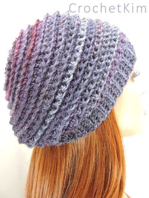 CrochetKim Free Crochet Pattern | Channel the Mind Beanie ...