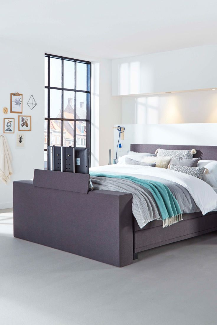 Complete Slaapkamer Swiss Sense.Boxspring Home 350 Huis Opbergruimte Bedroom Decor Home Tv Beds