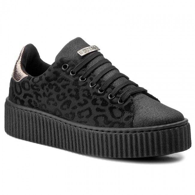 Sneakersy Guess Denky Flden3 Fab12 Black Black All Black Sneakers Black Sneaker