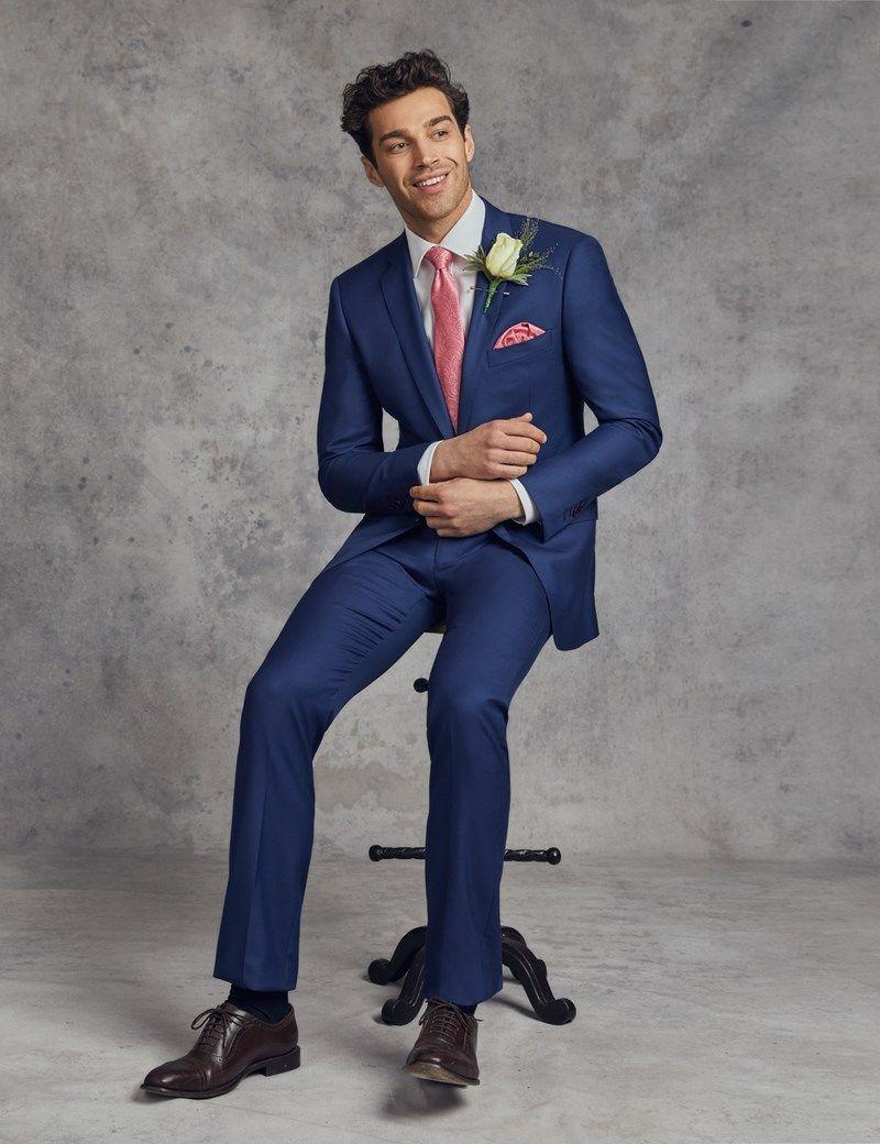Men's Royal Blue Twill Classic Fit Suit Jacket Royal