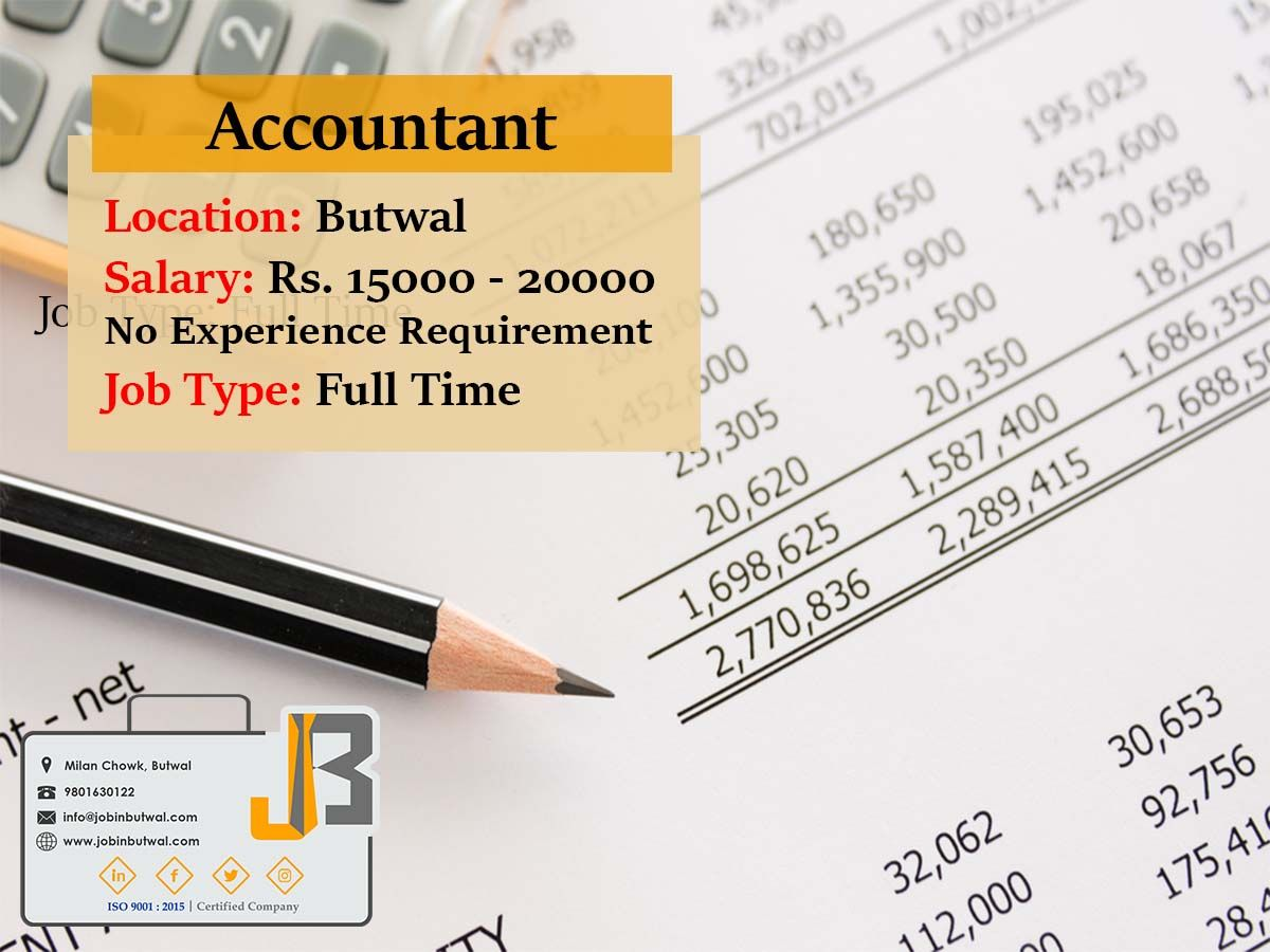 Job_Alert!! Hurry_up! Designation Accountant Location