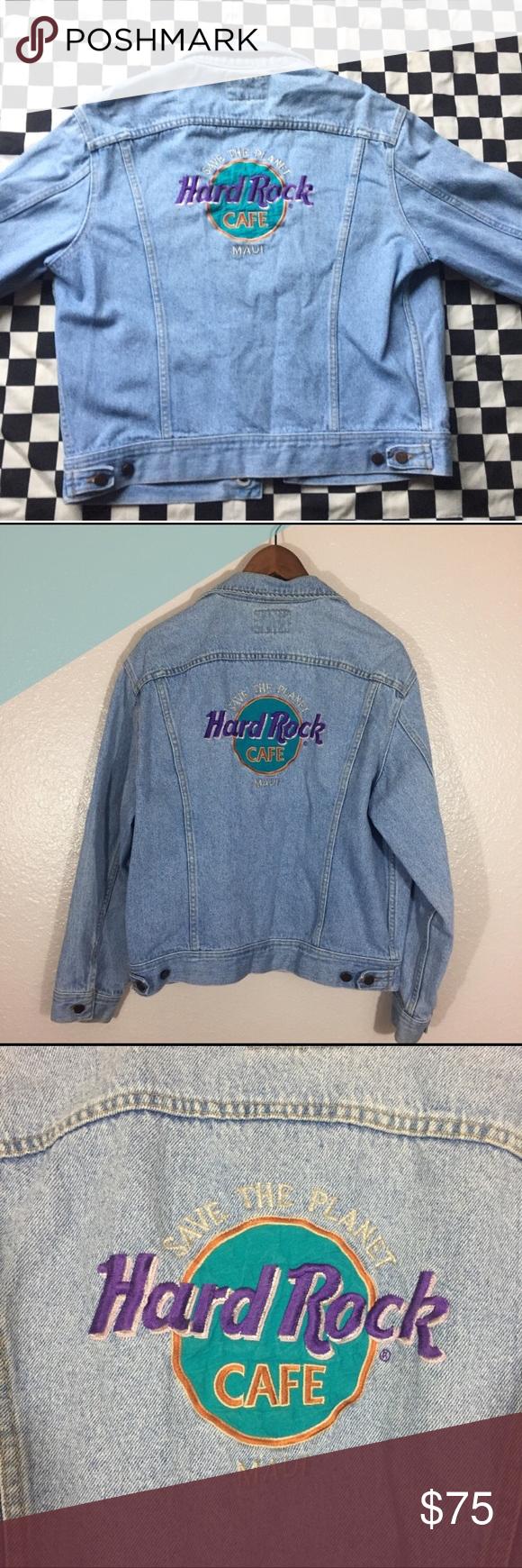 Hard Rock Cafe Denim Jacket Cafe Jacket Denim Jacket Denim [ 1740 x 580 Pixel ]