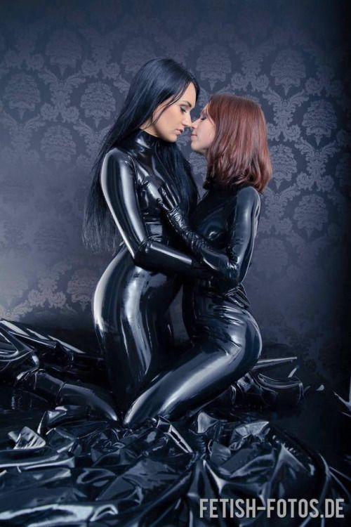 Sexy zwarte lesbains
