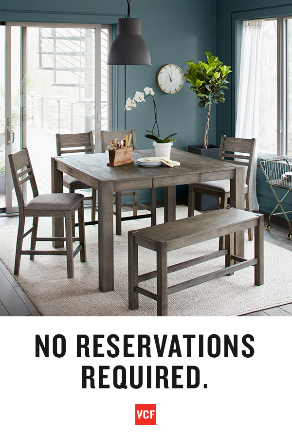 Embrace Your Dining Space. Featuring A Rustic Yet Refined Look, The Tribeca  Counter Height Collection Will Freshen Up Any Dining Room. With A Homey  Gray ...