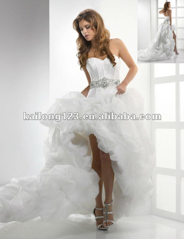 the shape is great it has the tighter bodice short fron long train ...