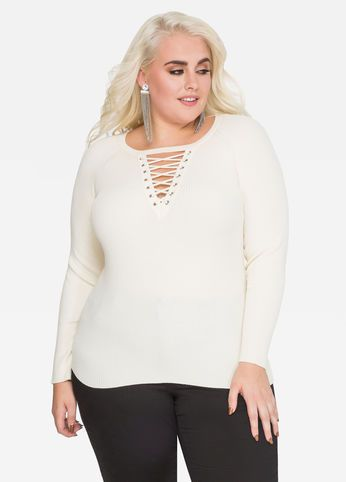 Sexy plus size sweaters