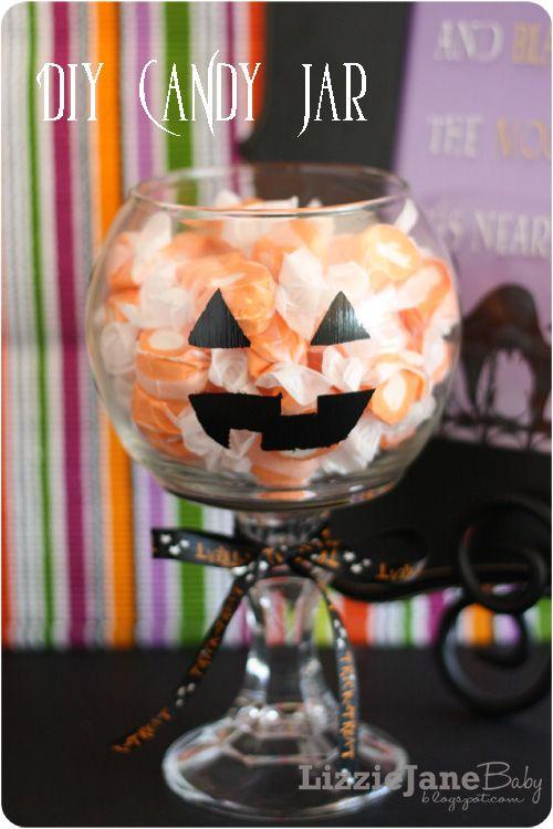 DIY Candy Jars for Halloween Halloween Pinterest Halloween