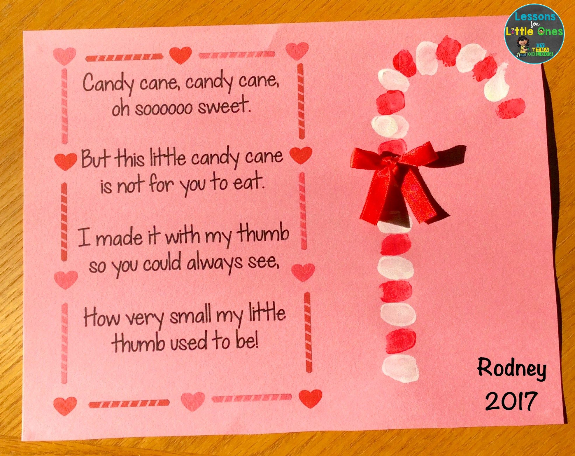 Candy cane poem and thumbprint christmas card for parents here are two of my favorite christmas cards for students to create for their parents kristyandbryce Choice Image