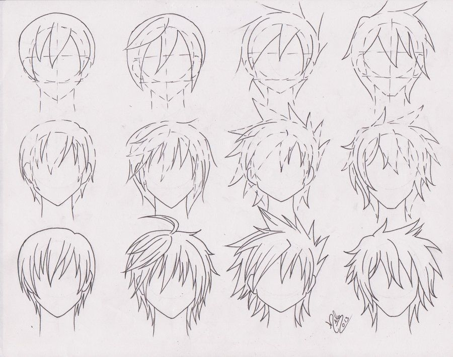 how to draw manga male hairstyles
