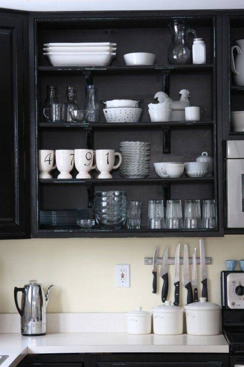 kitchen - love simplicity with white & black and variety of shapes