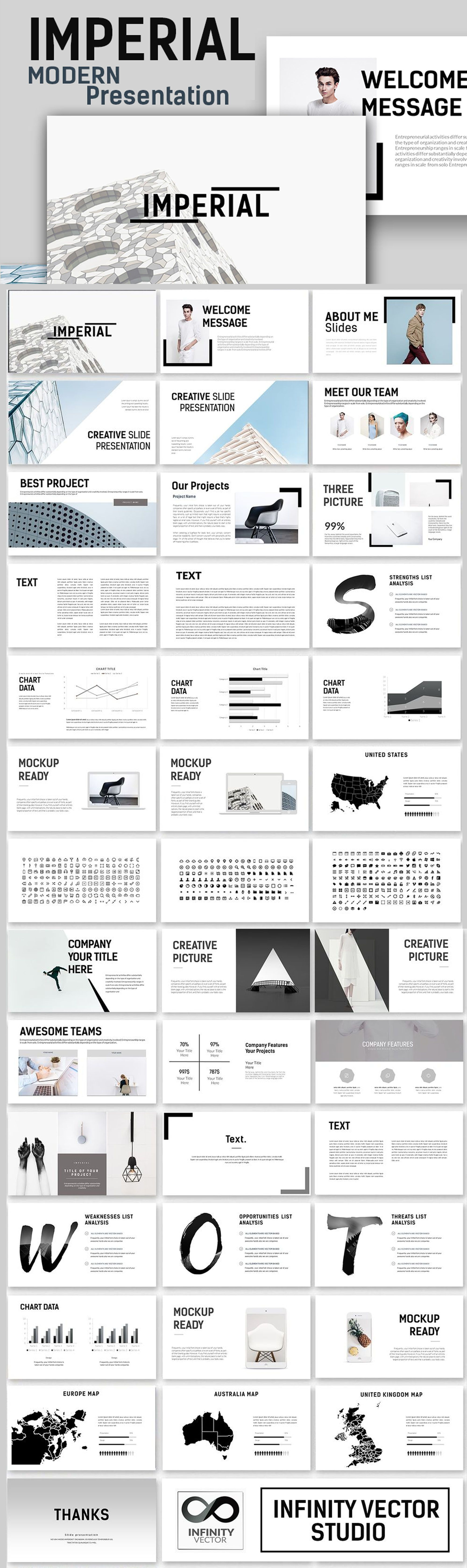 imperial modern powerpoint template creative presentation ideas