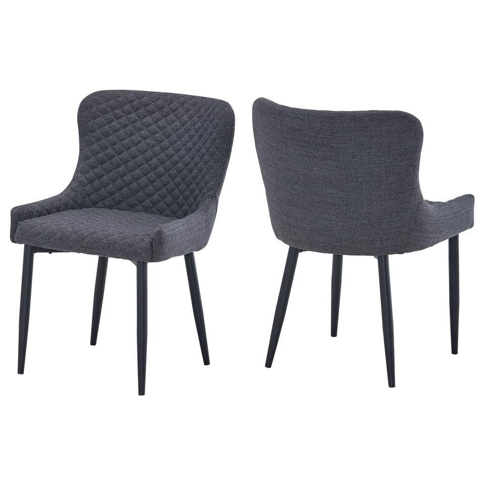 2er Set Polsterstuhle New York Grau Polsterstuhl Stuhle Moderne Stuhle