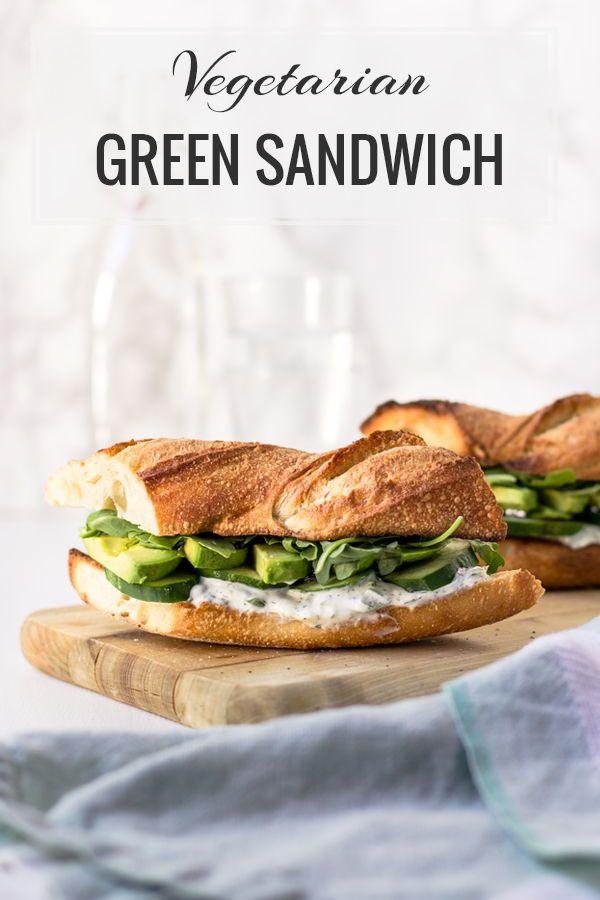 Healthy Vegetarian Cucumber And Avocado Sandwich