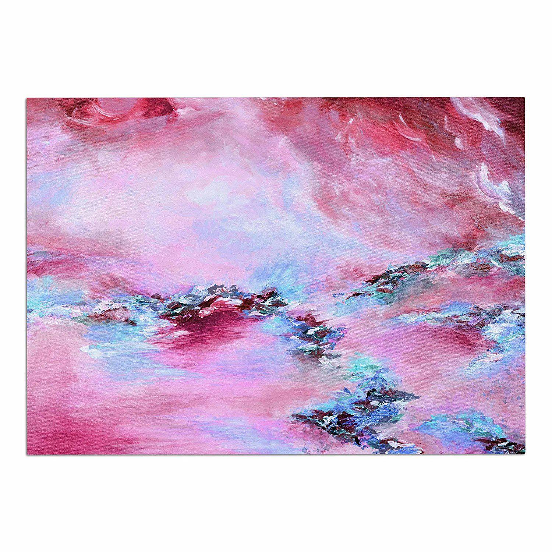 Kess InHouse EBI Emporium Splash Out Purple Pink Lavender Blush 23 x 23 Square Floor Pillow