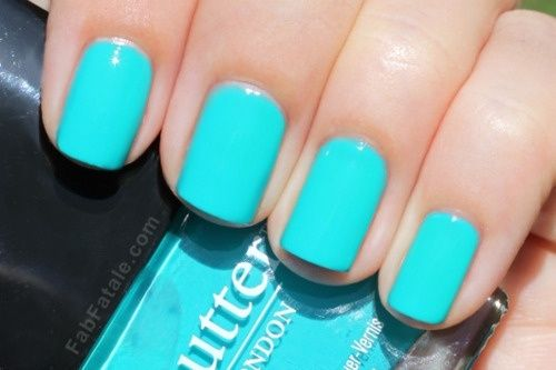 Neon Blue Nails I Want This Color