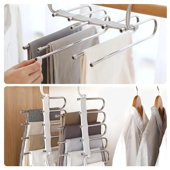 pants rack organizer closet space saver
