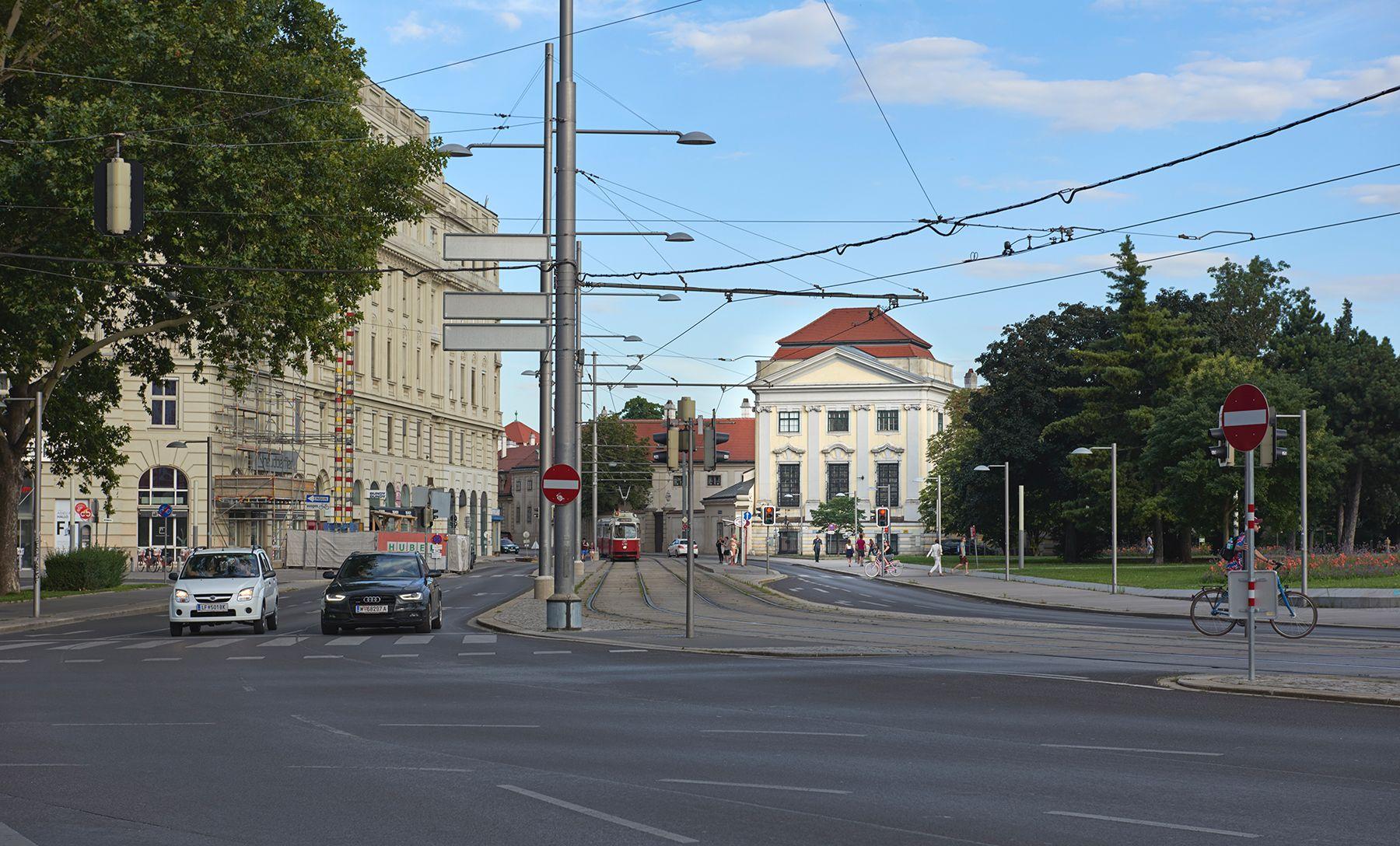 Palacio bajo el cielo de Viena