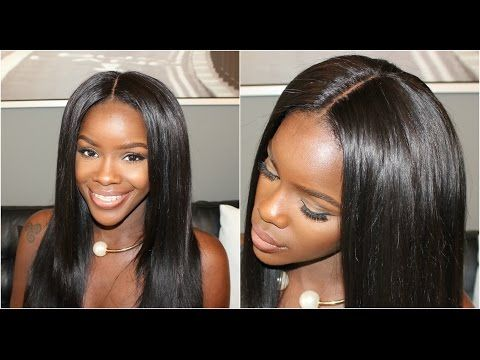 Hair Tutorial How I Install My Lace Closure To My U Part Wig Hair Tutorial U Part Wig Wigs
