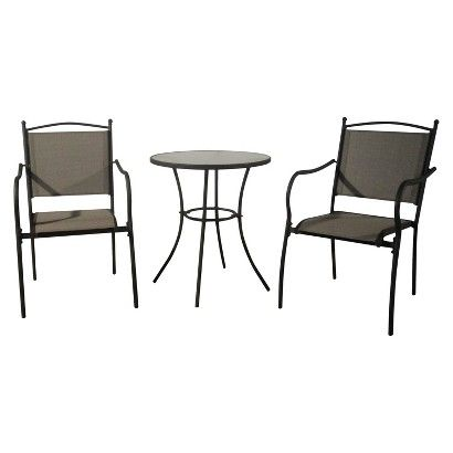Threshold Savoy 3 Piece Metal Patio Bistro Furniture Set Target