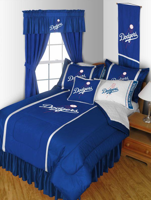 Mlb Los Angeles Dodgers Complete Bed Room Set Ayden Dodger Theme