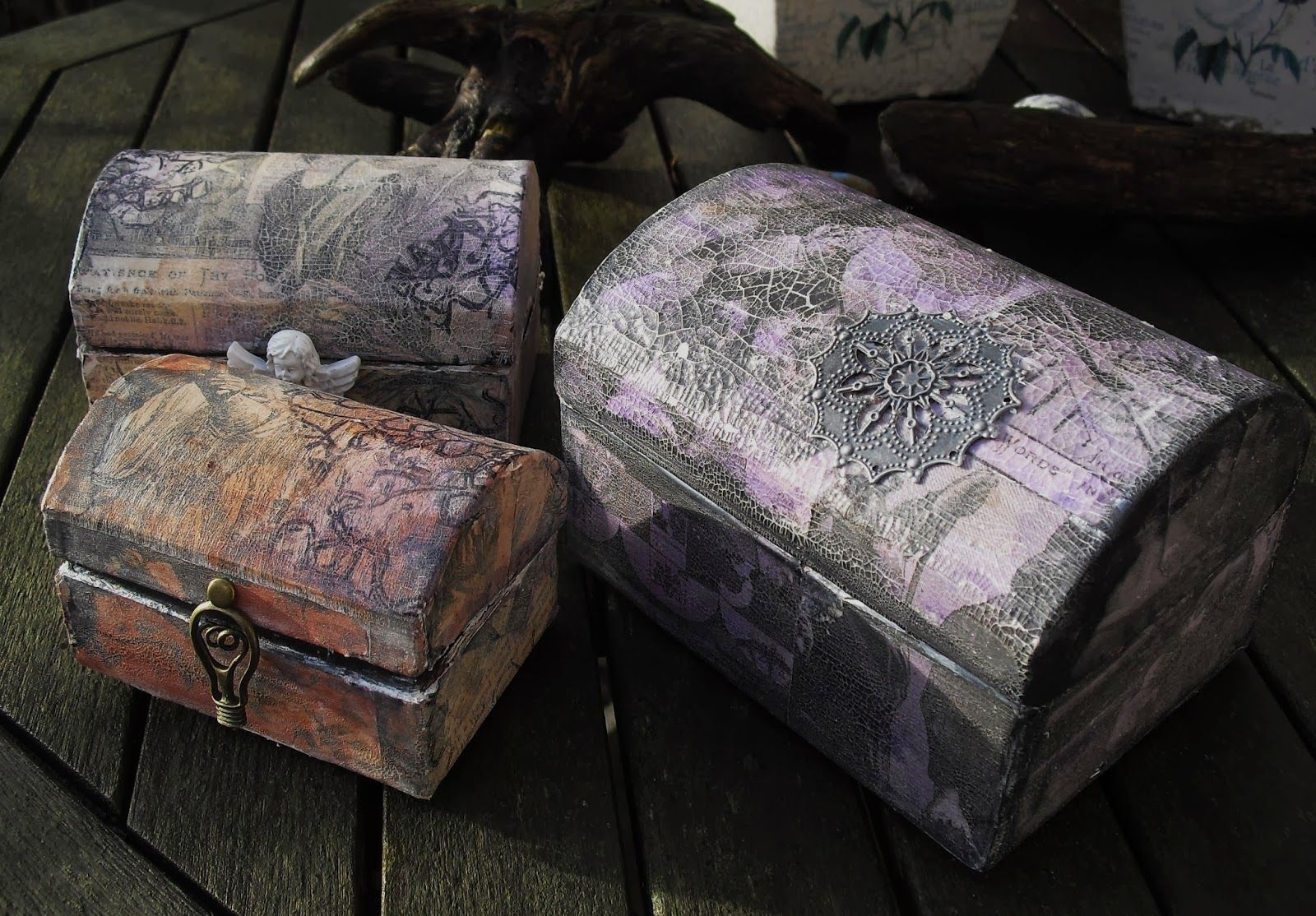 Neelz Expressionz: A trio of chests for That Craft Place and a bit more.....