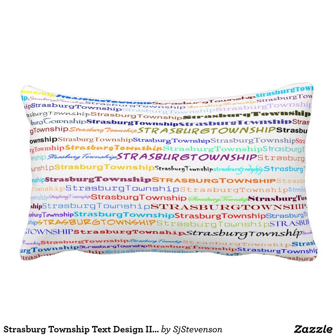 Strasburg Township Text Design II Lumbar Pillow