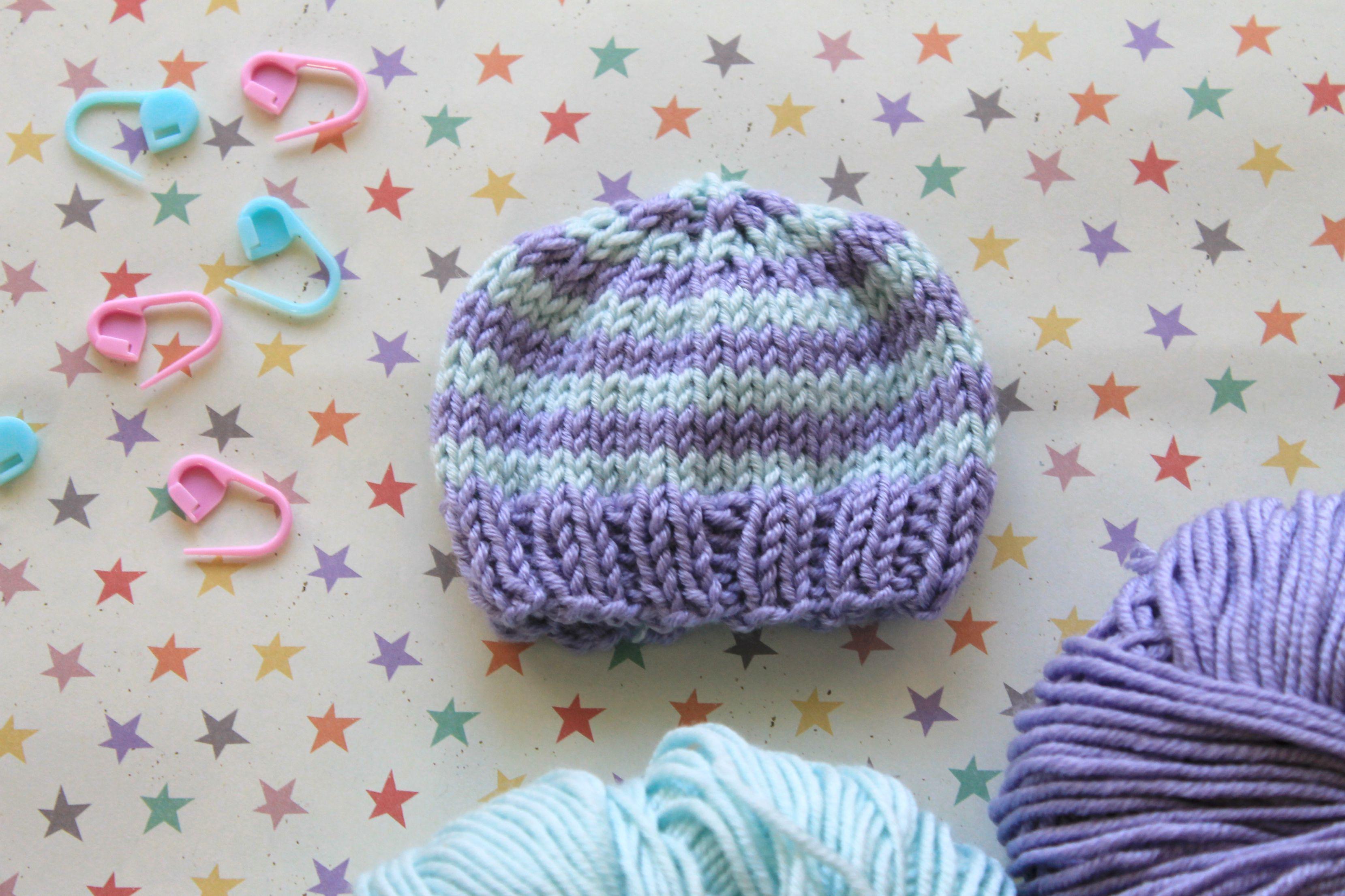 Babymützchen schnell gestrickt   Kinderpullover, Stricken und ...