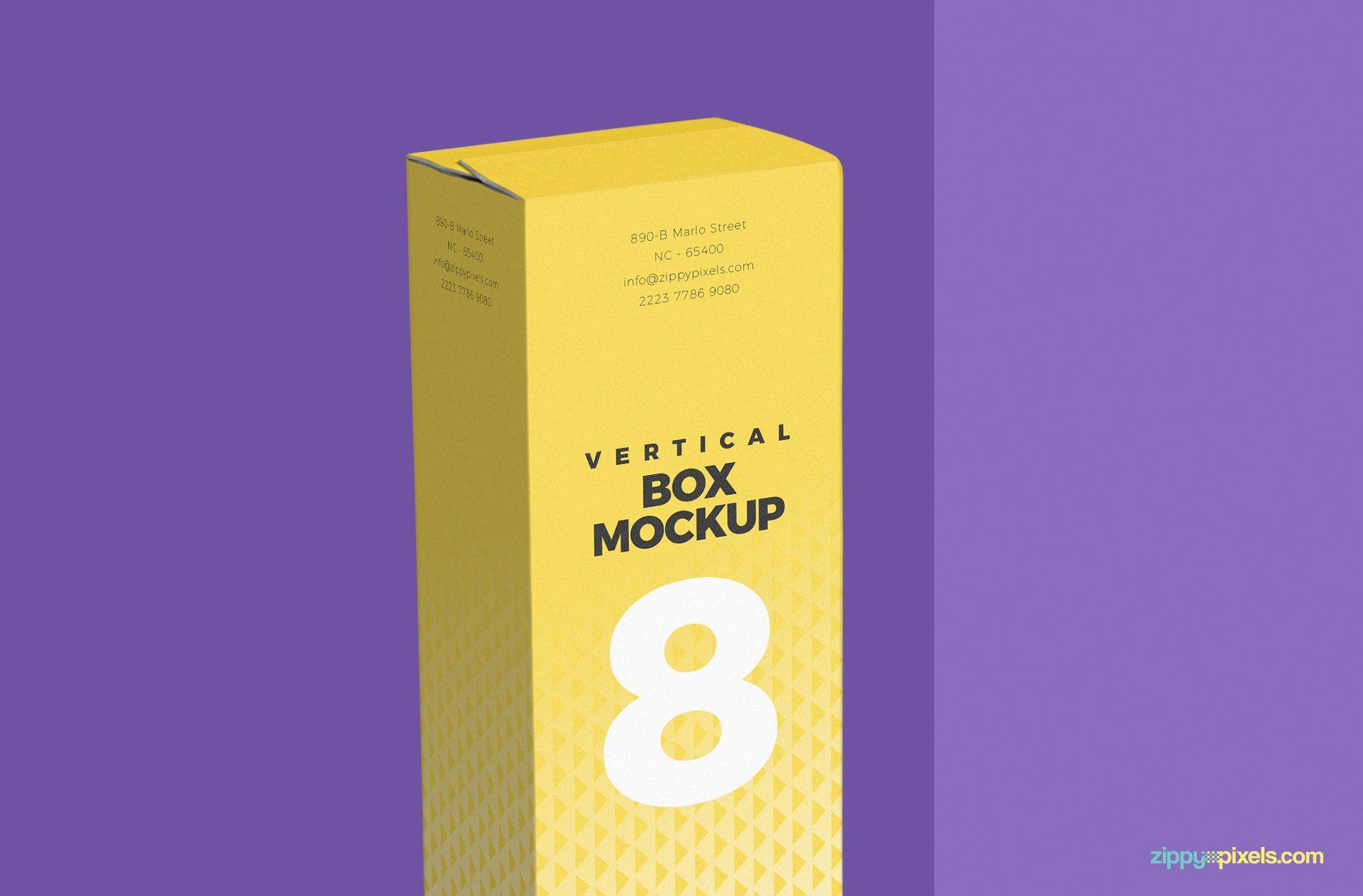 Download Free Vertical Box Mockup For Cardboard Zippypixels Box Mockup Corrugated Box Design Packaging Mockup