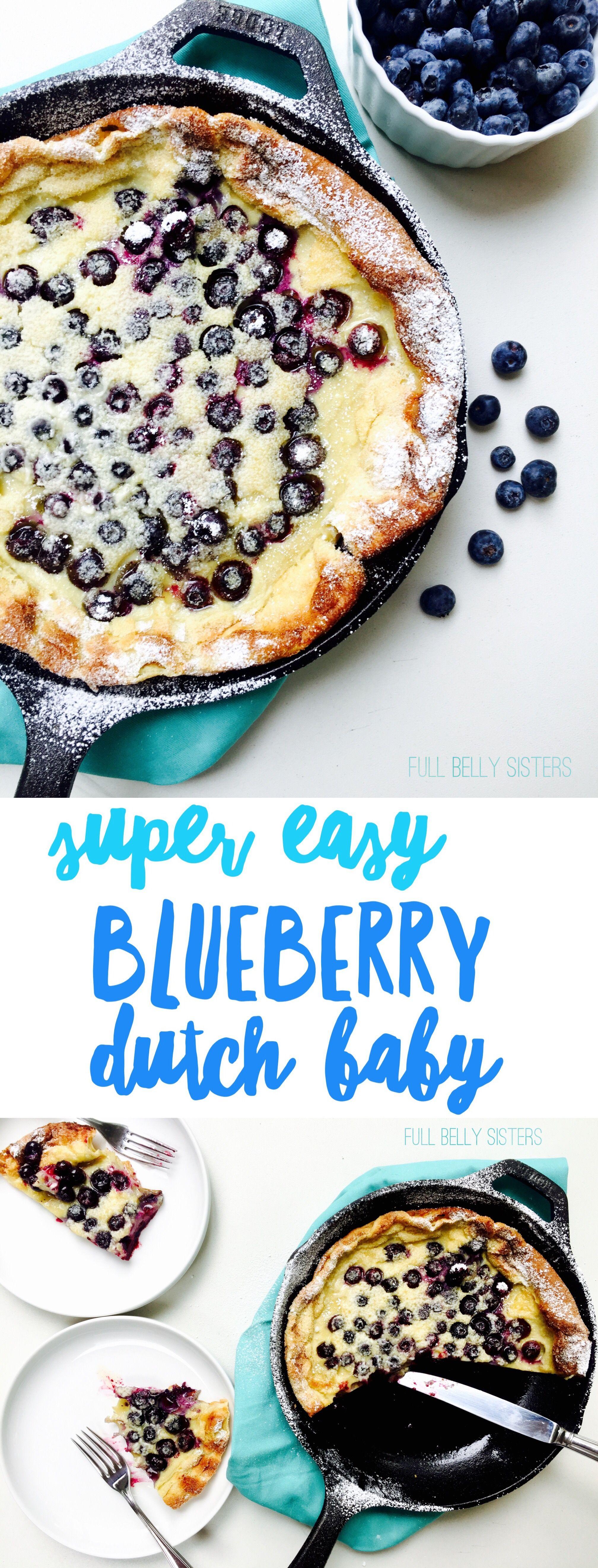 Blueberry Dutch Baby | Nutritious breakfast, Blueberry ...