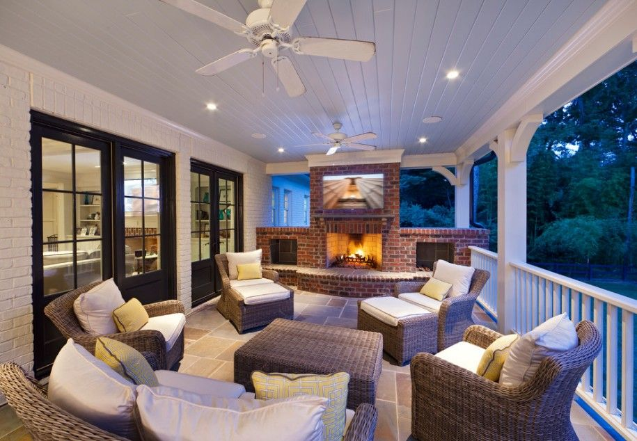 Back Porch Designs Back Porch Ideas For A Beautiful View Best Red Brick Fireplaces Outdoor Fireplace Designs Porch Furniture