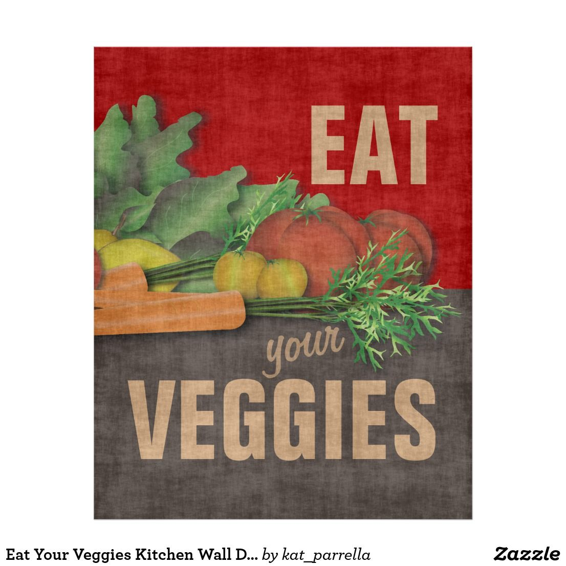 Create Your Own Poster Zazzle Co Uk Wall Decor Stickers Butterfly Wall Decor Veggies Kitchen