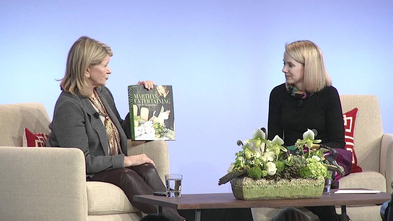@Google Talks presents Martha Stewart in Conversation with Marissa Mayer