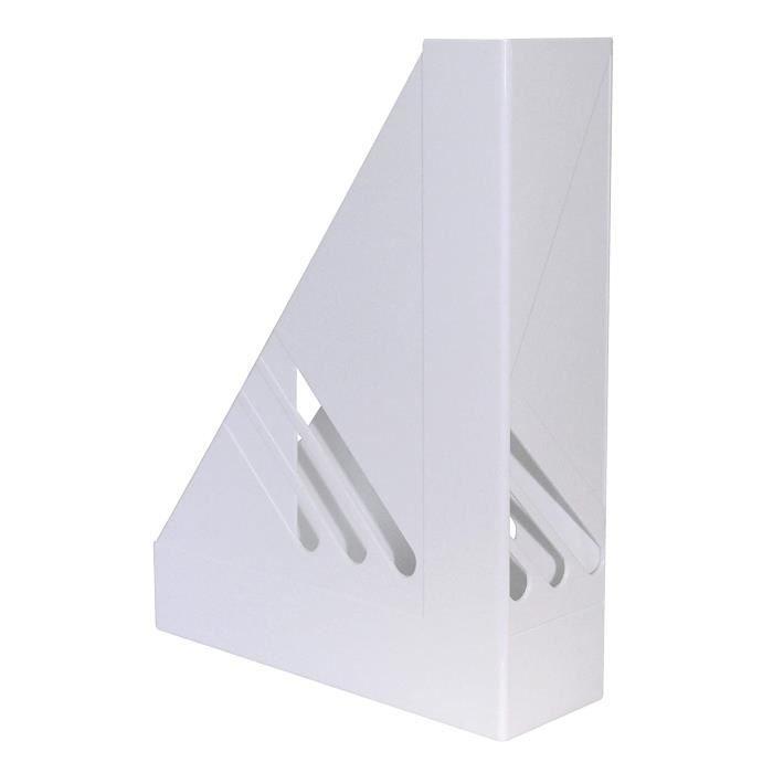 Porte-revues Lot de 12 range-revues A4 Vario Blanc 21881